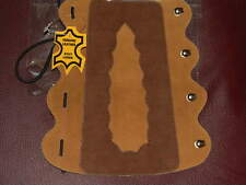Archery arm guard leather lacing fittings brown & mustard Coppers Hook AA077----