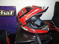 Fly Motorcross Casque rouge taille L-tête casquée