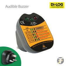 Di-Log DL1090 UK LED and Audible 13 Amp Electrical Socket Tester with Buzzer