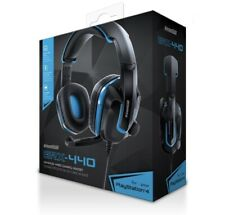 New Grx-440 Black/Blue Wired Headset 40mm Audio Drivers By DreamGear