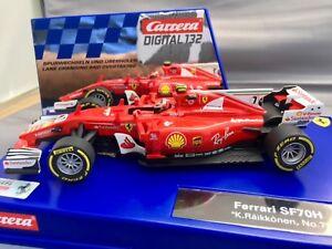Carrera 30843 Digital & Analog Ferrari SF70H K. Raikkonen #7 1/32 Scale Car