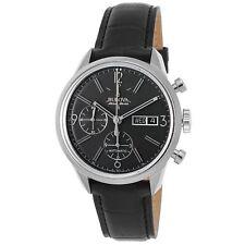 Bulova ACCU Swiss Men's 63C115 Mechanical Hand Wind Black Strap Watch