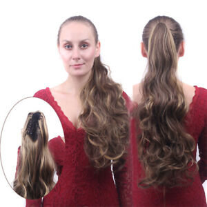 Ponytail Wig Claw Clip Long Wavy High Pony Tail Hair Multiple Color