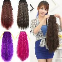 Women Hair Extensions 60cm Afro Kinky Curly Hair Hairpiece Drawstring Ponytail x