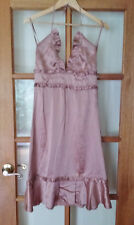 ALANNAH HILL Blush Bells and Whistles Silk Frock Slip Dress Size 8 with Defect