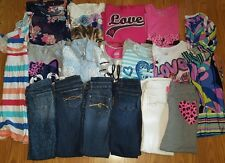 HUGE lot of Girl clothes size 12 14 slim 10/12 SCHOOL Fall Justice Abercrombie +