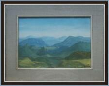 bellissimo moderno dipinto olio tela con paesaggio stile Giuseppe Castellani
