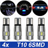 T10 6 SMD & 10SMD LED XENON 501 W5W CAR SIDE LIGHT BULBS ERROR FREE CANBUS 6000K