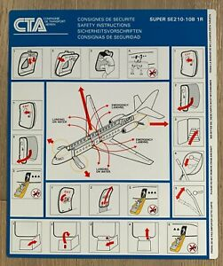 CTA SWITZERLAND CARAVELLE SUPER SE210-10B 1R SAFETY CARD