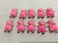 10 X Peppa Pig 3D Rubber Charms Kids Jewellery/Party