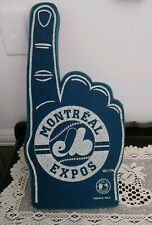 Vintage Montreal Expos Baseball MLB Licensed Blue Foam Finger Souvenir