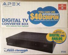 Apex DT502 Digital to Analog TV Converter Box Brand New Sealed