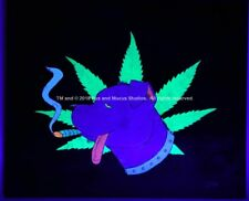 Glow in the Dark American Pot Bull Terrier Pit Pitbulls Pitt Marijuana Weed Art