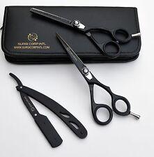 "Professional Barber Hairdressing Scissor Thinning & Hair Cutting Set 6"" SET OF 3"