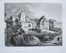 Saaz  Žate  Eger  Egerland Tschechien Ceska echter  alter Stahlstich  1844
