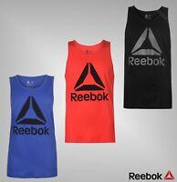 Mens Genuine Reebok Sleeveless Crew Neck Top Block Colour Delta Vest Size S-XXL