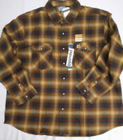Carhartt 102825 Rugged Flex Hamilton Plaid Flannel  sz SMALL BROWN [K1-2825]