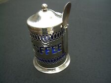 Vintage COFFEE CONTAINER WITH SPOON Silverplated Sheffield England