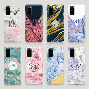 Tirita Personalised Case for Samsung S20 S10 S9 S7 Colourful Marble Swirl