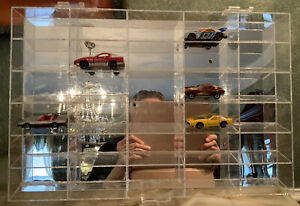 Acrylic mirror-back Display Case for 29 1:64 cars.