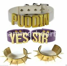 Harley Quinn Puddin Choker + Yes Sir Bracelet + Spiked Wristbands + Arm Tattoo