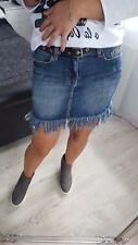 NUOVE Moda donna Donna Ragazze Denim Jeans Gonna Taglia S Uk 6/8 Cintura