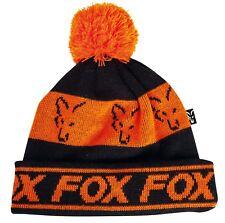 Fox Black and Orange Lined Bobble Hat NEW Carp Fishing Winter Hat - CPR991 244780753e70