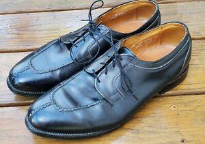 Allen Edmonds Brewster Mens Lace-Up Black Leather Split Toe Dress Oxfords 14 EEE