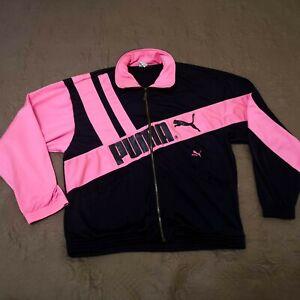 ultra rare vintage PUMA track jacket sport active wear Size M 90's retro pink