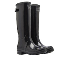 Joules Field Welly (Glossy Black) 30% OFF **ONLY UK 8's LEFT**