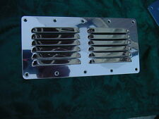 """STAINLESS STEEL BOAT VENT  LOUVERED VENTILATOR VENT NEW 4-1/2"""" BY 9-1/8"""""""