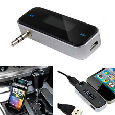 3.5mm Port Wireless Car Radio FM Transmitter Player for MP3 iPod iPhone Tablets