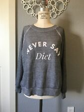 Wildfox Sommers Sweater Never Say Diet Beach Jumper Sweatshirt Size XS $118 NWT