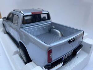 MERCEDES BENZ X Class diecast model pickup Silver 2017 1:18th NOREV 183420 Dam