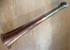 An Antique Copper & Nickel-Plated English Hunting  Horn- dovetailed (circa 1900)
