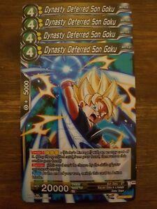 4x Dynasty Deferred Son Goku - Dragon Ball Super Card Game