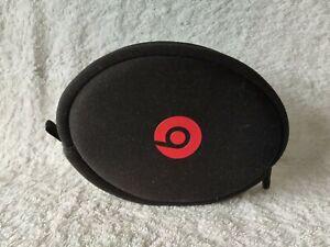 Black & Red Beats soft  Zippable headphones Case