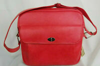 SAMSONITE Silhouette Vintage RED Luggage Carry On Shoulder Bag Zip Tote Softside