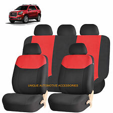RED ELEGANT AIRBAG COMPATIBLE SEAT COVER SET for GMC ACADIA ENVOY