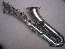 "Badly damaged old Baritone Saxophone by ""V. Kohlerts Söhne Graslitz Böhmen"""