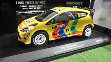 FORD  FIESTA RS WRC 2011 WALES RALLYE au 1/18 MINICHAMPS 151110815 voiture rally