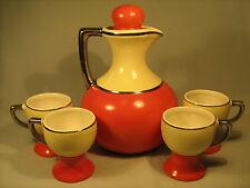 COORSITE Porcelain Cappuccino, Chicory Pitcher? & 4 Mugs [O2]