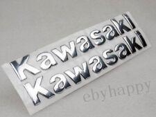 Silver Tank Fairing Emblem Decal For Kawasaki Fuel Gas Motorcycle Sticker Custom