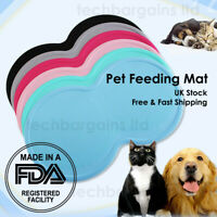8 Shape Pet Puppy Silicone Waterproof Feeding Food Mat Dog Cat Non Slip Placemat