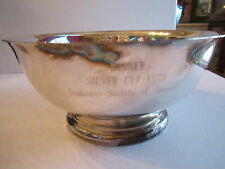 """1979 LEUKEMIA SOCIETY OF AMERICA - SILVER PLATED WINNER'S BOWL CUP - 8"""" X 3 1/2"""""""
