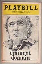 "Playbill   ""Eminent Domain""  1982   BROADWAY   Philip Bosco & Betty Miller"