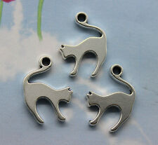 Free shipping 20pcs retro style Lovely Alien cat alloy charms pendants 19*14mm