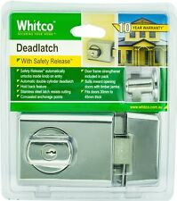 Whitco DOUBLE CYLINDER DEADLATCH Hold Back Feature, Bright Chrome *Aust Brand