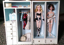 Barbie Silkstone Wardrobe Case with Dolls and Accessories