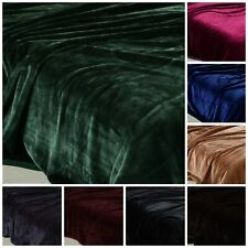 Chezmoi Collection Oversized Heavy Thick One Ply Faux Korean Mink Blanket